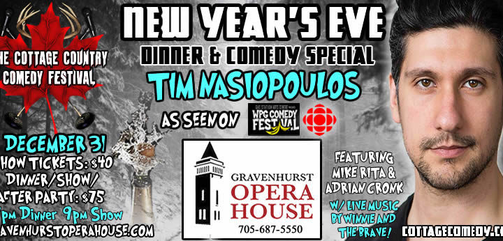 Cottage Comedy New Year's Eve!